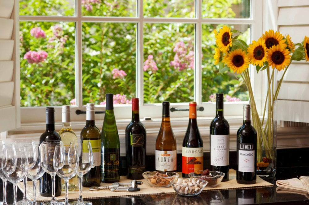 The Wine and Beer Buffet at Embassy Circle Guest House Bed and Breakfast Inn